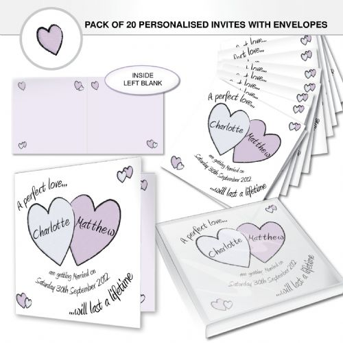 Personalised Perfect Love Wedding Invites